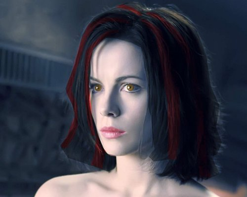 Underworld fond d'écran containing a portrait entitled Selene as a Twilight Vampire