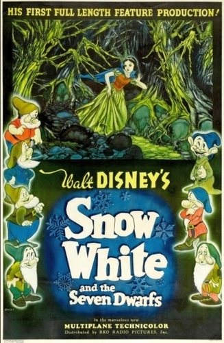 Snow White and the Seven Dwarfs wallpaper containing anime entitled Snow White Movie Poster