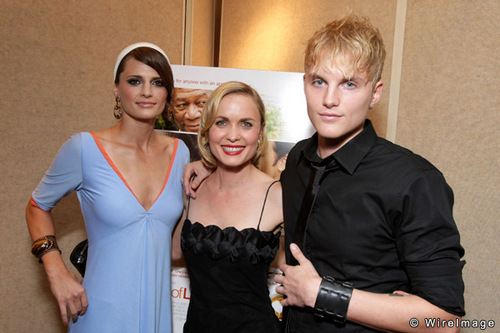 Toby Hemingway wallpaper possibly with a cocktail dress, a playsuit, and a well dressed person called Stana Katic, Radha Mitchell and Toby Hemingway