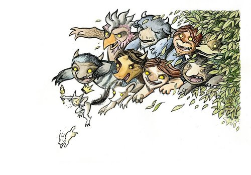 Where The Wild Things Are kertas dinding with Anime titled Terrible Yellow Eyes