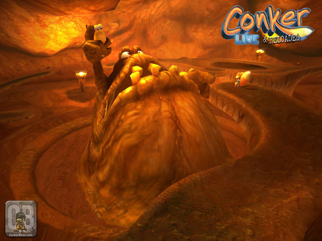 los personajes mas locos de los videojuegos The-great-Mighty-Poo-wallpaper-conker-6691605-1024-768