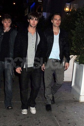 Toby Hemingway wallpaper containing a business suit titled Toby Hemingway, Chase Crawford, Sebastian Stan