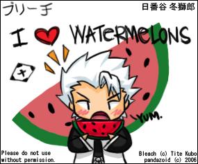 Toshiro Likes Watermelons