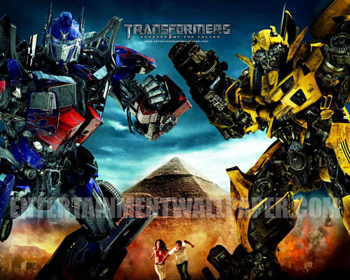 Transformers karatasi la kupamba ukuta possibly with anime called Transformers: Revenge of the Fallen