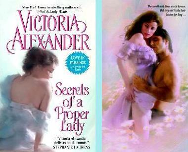 Romance Novels wallpaper containing a portrait and skin called Victoria Alexander - Secrets Of A Proper Lady
