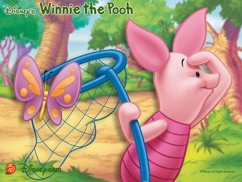 Winnie the Pooh, Piglet kertas dinding