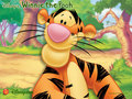 Winnie the Pooh, Tigger kertas dinding