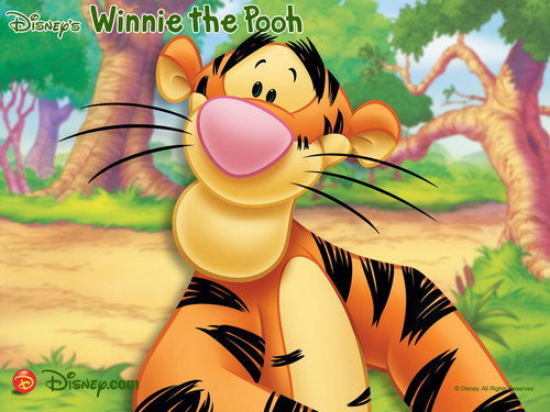 Disney wallpaper with anime entitled Winnie the Pooh, Tigger Wallpaper