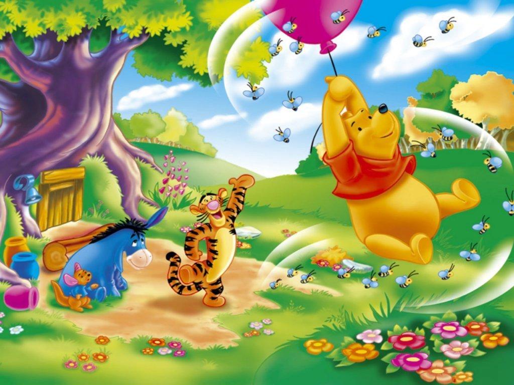 Winnie The Pooh Fond Dcran Lourson D