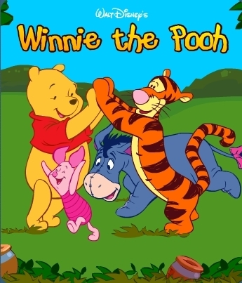 winnie the pooh wallpaper containing anime titled Winnie the Pooh and friends