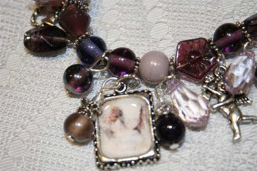 amethyst Angel - charm bracelet