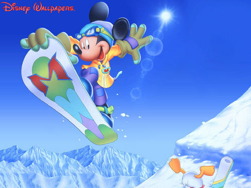 Classic Disney wallpaper titled Micky And Donald