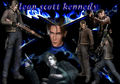 leon s kennedy in blue আগুন
