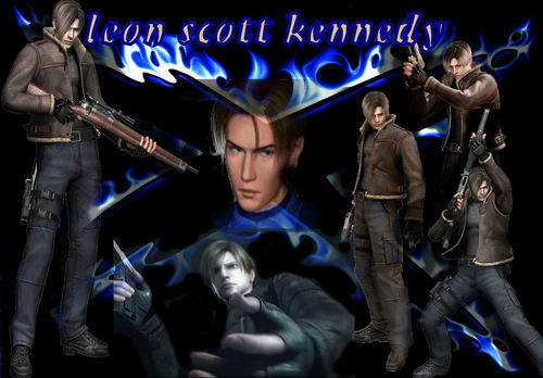 leon s kennedy in blue moto
