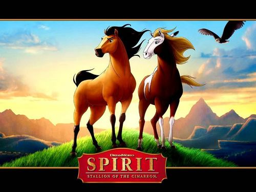 spirit and rain - spirit-stallion-of-the-cimarron Wallpaper