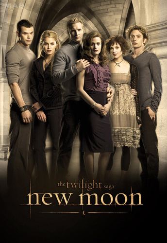 Twilight Series wallpaper possibly with a sign entitled whole_vampire_family_new_moon