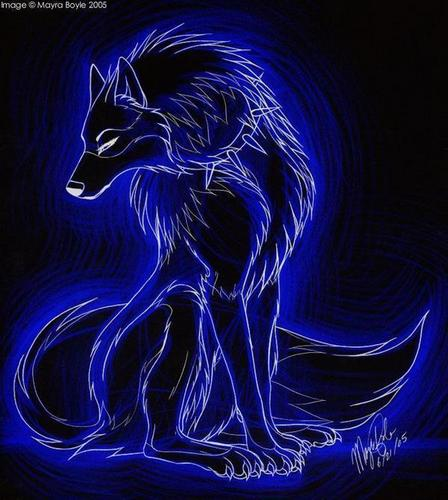 anime animal achtergrond called wolf