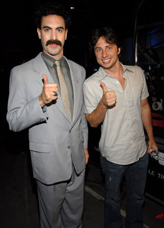 zach meets borat! it is almost too good to be true!