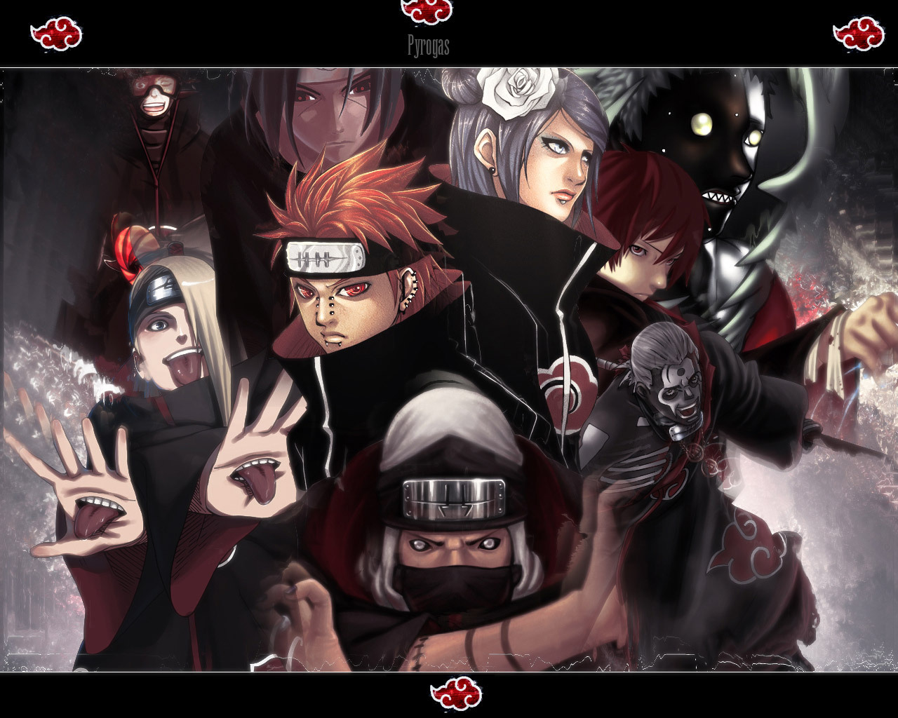 AKATSUKI WALLPAPERS - Naruto 1280x1024