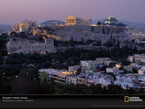 Ancient History wallpaper with a business district titled Acropolis/Athens/Greece