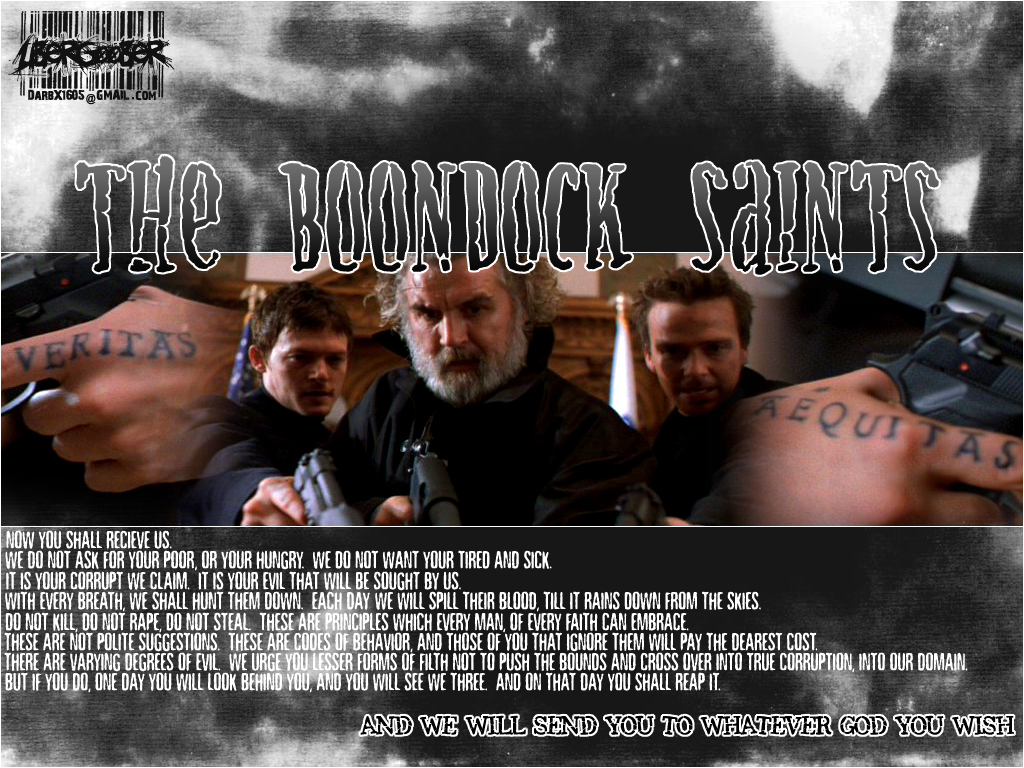 symbolism in the boondock saints essay The boondock saints follows brothers connor and murphy mcmanus as they set out to rid south boston of the evil that is: murderers, rapists, and organized crime.