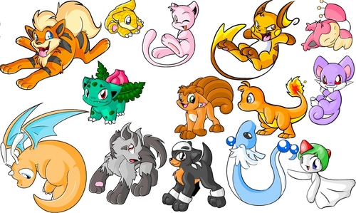 pokemon wallpaper containing anime called chibi Pokemon