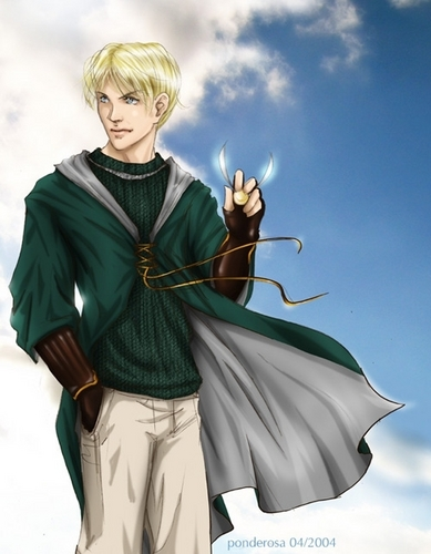 Draco Malfoy wallpaper containing a surcoat and a tabard titled Draco