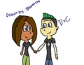 Duncan and Courtney chibi (drawn por me)