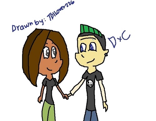 Duncan and Courtney wallpaper containing anime called Duncan and Courtney chibi (drawn by me)