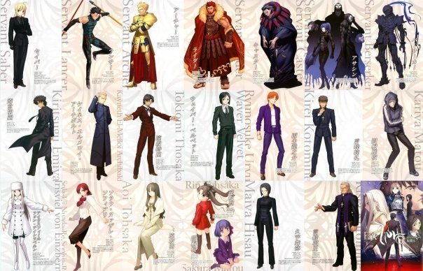 Fate\zero characters on one pic