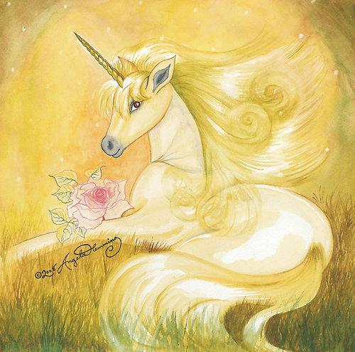 Unicorns wallpaper titled Golden Unicorn
