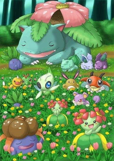 Grass Type Pokemon Images Grass Pokemon Paradise Wallpaper And