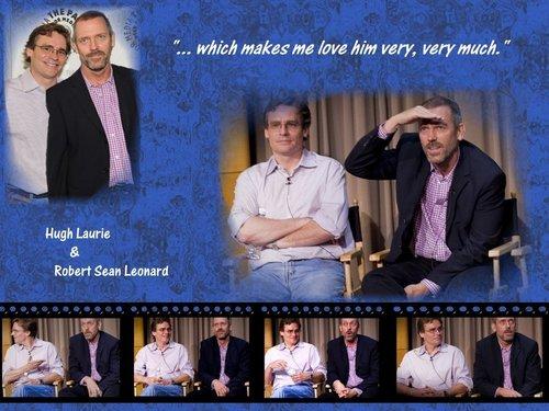 Hugh Laurie & Robert Sean Leonard at Paley Center