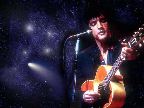 Elvis Presley hình nền with a guitarist and a buổi hòa nhạc called Into the Universe