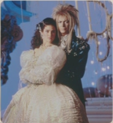 Labyrinth kertas dinding entitled Jareth and Sarah DVD Gallery cast foto