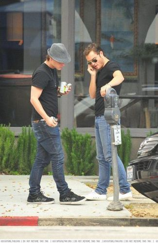 Jessica and Ed out and about in LA