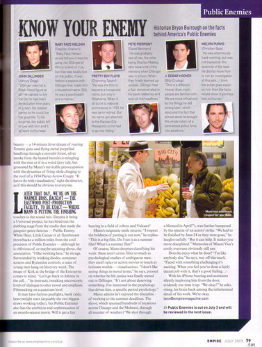 July 2009 Empire magazine article (page 79)