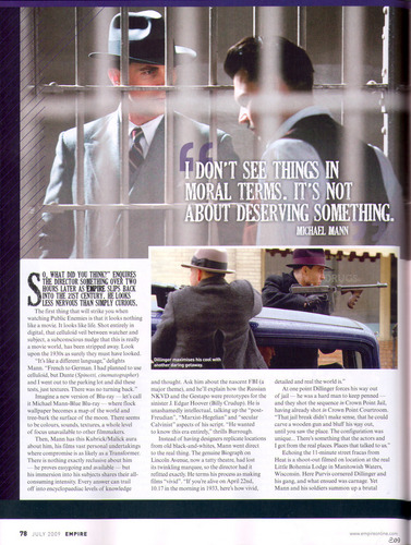 July 2009 Empire magazine article (page 78)