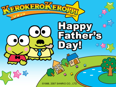 Keroppi Father's araw E-Card