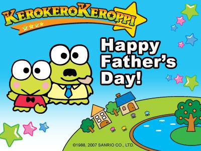 Keroppi Father's Tag E-Card