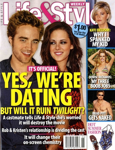 kristen stewart and robert pattinson dating confirmed. According to Lifeamp;Style Robert