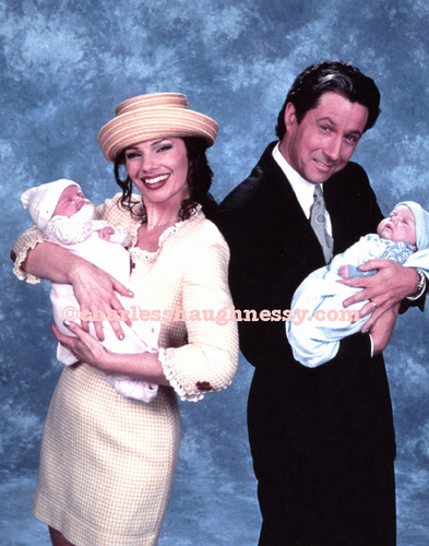 The Nanny wallpaper possibly containing a boater and a business suit titled MAX AND FRAN ""