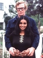 Michael Caine and his wife, Shakira, 1973