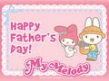 My Melody Father's Day E-Card - my-melody photo