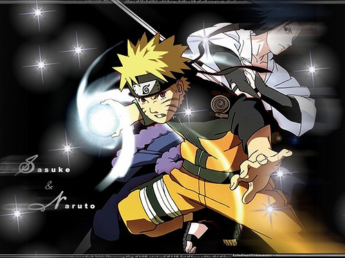 Naruto Shippuuden wallpaper with anime titled Naruto vs Sasuke