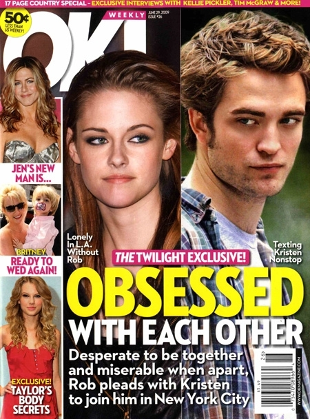 Magazine - Robert Pattinson & Kristen Stewart 450x608