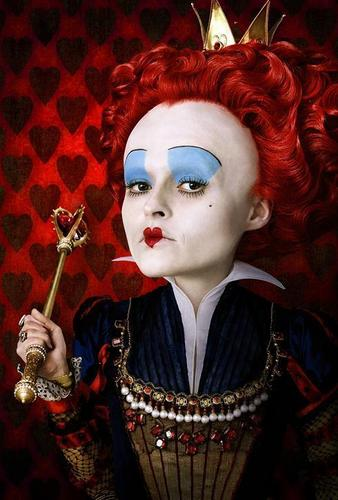 Officially Released Image of Helena as The Red queen in Tim Burton's 'Alice In Wonderland'