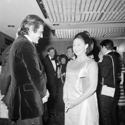 Omar Sharif with Princess Margeret at the Premier of Mackennas Gold, April 1969