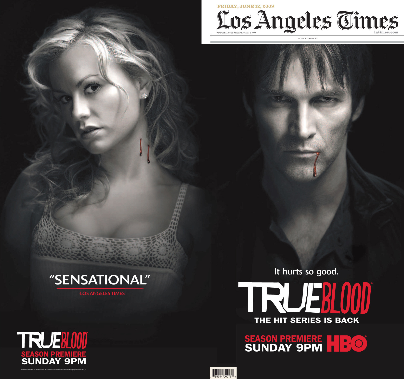initial promotional mix of true blood