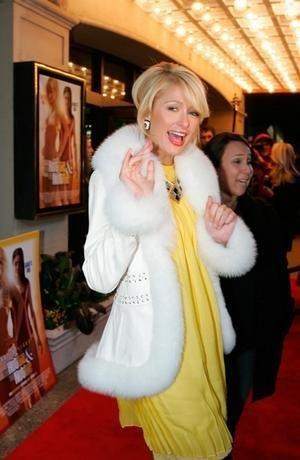 Paris Hilton in my moms jacke